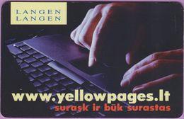 Télécarte Lituanie °° Nc – Langen Langen – Yellow Pages - 8225 - Lituanie