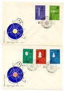 4 Cartas Con La Serie Nº 1302/11 Polonia - Astrología