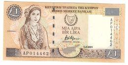 Cyprus 1 Pound 2001 UNC .C. - Chypre