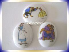 Medaillons La Belle Et La Bête ... Lot De 3 ... Ref AFF : 4-1993..( Pan 0027) - Disney