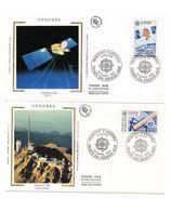 2 Sobres De Primer Dia De Andorra De 1991 - Astrología