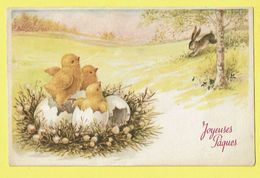 * Pasen - Paques - Easter (Fantaisie - Fantasy) * (25612/2) Joyeuses Paques, Lapin, Rabbit, Poussin, Chicken, Oeuf, Egg - Ostern
