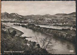 °°° 5148 - GERMANY - BAD GODESBERG - GESAMTANSICHT DES SIEBENGEBIRGES - 1955 With Stamps °°° - Germania