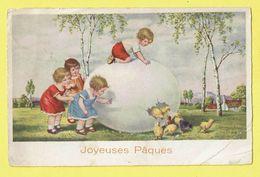 * Pasen - Paques - Easter (Fantaisie - Fantasy) * (BR) Joyeuses Paques, Poussin, Chicken, Egg, Oeuf, Ei, Enfants - Pascua