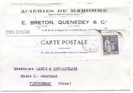 Acieries De MAROMME --E Breton,Quenedey & Cie - Publicités