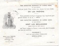 Vernon -- Barattes  Bombées En Chêne Verni - Maison Louis DAVID - Publicités