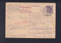 Alliierte Besetzung Kriegsgefangenesendung 1946 Fürth Nach Frankreich - Bizone