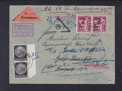 Dt. Reich Nachnahmebrief 1936 Berlin Nach Bad Harzburg Retour - Briefe U. Dokumente