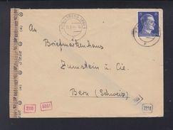 Dt. Reich Brief 1944 Königsberg Nach Bern Zensur - Germania