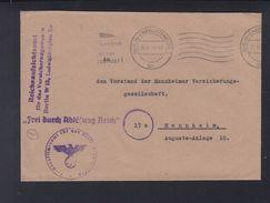 Dt. Reich Brief 1944 Reichsaufsichtsamt Versicherungswesen - Briefe U. Dokumente