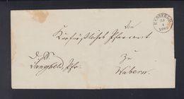 Falthülle 1860 Hersfeld Nach Wabern - Preussen (Prussia)