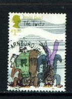 GREAT BRITAIN  -  2012  Roald Dahl  £1  Used As Scan - Gebruikt
