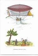 DIRIGIBILE GIFFARD (1852)  DISEGNATORE CARLOR - EDIZ. CASA MAMMA DOMENICA MILANO - AEROSTATI - SERIE 1a - NUOVA NV - Dirigibili