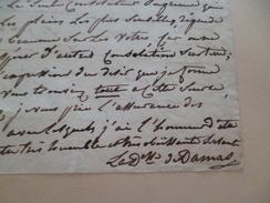 LAS Autographe Duchesse De Damas 2 Pages Sans Date 14.5 X 18.6 Cm  Mme La Dauphine Est Mentionnée - Autógrafos