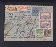 Hungary Parcel Card 1918 Budapest - Brieven En Documenten