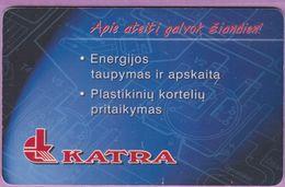 Télécarte Lituanie °° Nc - Katra - Energijos Plastikiniu - 7824 - Lituanie