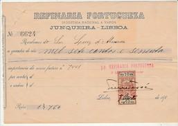 Receipt * Portugal * Refinaria Portugueza * Junqueira * Lisboa * 10's - Portugal