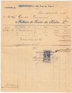 Invoice * Portugal * Fabrica De Fiação Da Balsa, Lda. * Porto * 1907 - Portugal