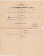 Receipt * Portugal * Collegio N. Senhora Do Monte Do Carmo * Lisboa * 1887 - Portugal