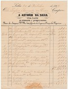 Invoice * Portugal * Loja De Ferragens E Quinquilharias * Lisboa * 1862 - Portugal