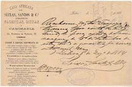 Receipt * Portugal * Casa Africana * Lisboa * 1884 - Portugal
