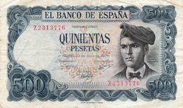 BANCONOTE SPAGNA 500 PESETAS-P-153 - [ 4] 1975-… : Juan Carlos I