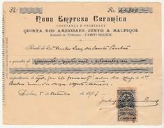 Receipt * Portugal * Nova Empreza Ceramica * Lisboa * 1907 - Portugal