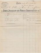 Invoice * Portugal * Armazem De Fazendas De Lã, Seda E Algodão * Porto * 1880 - Portugal