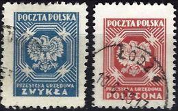 Poland 1950/52 - Official : National Arms - Eagle ( Mi D 25/26 - YT S 25/26 ) Perf. 11 - Dienstzegels
