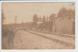 SAINT MESMIN - VENDEE - CARTE PHOTO - ACCIDENT DE TRAIN - CATASTROPHE - Autres Communes
