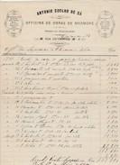 Invoice * Portugal * Officina De Obras De Marmore * Porto * 1880 - Portugal