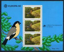 Açores YT Bloc 7 XX / MNH Europa Oiseau Bird - Açores
