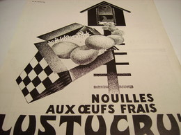 ANCIENNE PUBLICITE PATE ALIMENTAIRE  LUSTUCRU 1928 - Affiches