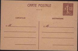 Entier 1F20 Brun Semeuse Lignée Imprimée à Rennes Après La Libération De L'Ouest Poinçon Local Guerre 39 45 - Postales Tipos Y (antes De 1995)