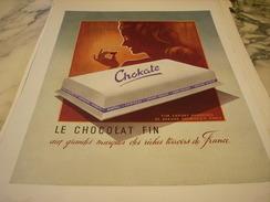 ANCIENNE PUBLICITE CHOCOLAT CHOKATE 1948 - Posters