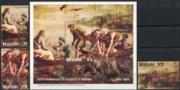 MALAWI 1983 Rafael Anniversary, The Miraculous Draught Of Fishes, Birds, Fauna MNH - Malawi (1964-...)