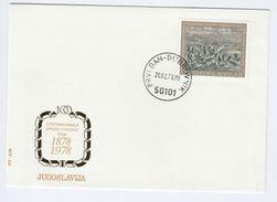 1978 YUGOSLAVIA FDC Stamps SERBIAN TURKISH WAR  Cover - FDC