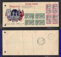 S.Rhodesia 1st Day Cover,GVIR, Royal Visit, REGISTERED BULAWAYO 1 APR 47  > GWELO REGISTERED - Rhodesia Del Sud (...-1964)