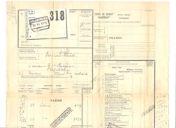 Chemin De Fer - Lettre De Voiture 30 Juin1914 - DÜFFEL Vers VERVIERS - Train, Marchandise. - Titres De Transport