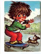 Cp - Gamins Par MICHEL THOMAS - La Planche à Roulettes (skateboard) C/100 N°42 - Thomas