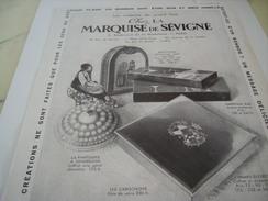 ANCIENNE PUBLICITE CHOCOLATS LA MARQUISE DE SEVIGNE 1930 - Posters