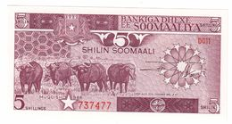 Somalia 5 Shillings 1986 UNC .C. - Somalia