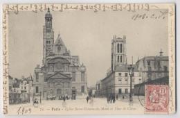 PARIS - 1909 - Eglise Saint Etienne Du Mont Et Tour De Clovis - Animée - Arrondissement: 05