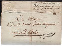 REVOLUTION ARLES Bouches Du Rhône Marque De Franchise Commission De Commerce Et D'approvisionnement Sur Doc 4 Pages  ..G - Storia Postale