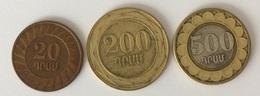 Arménie - 20 Dram 2003 - 200 Dram 2003 - 500 Dram 2003 - Armenia