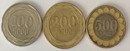 Arménie - 100 Dram 2003 - 200 Dram 2003 - 500 Dram 2003 - Armenia