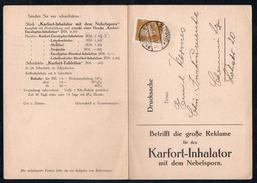A6698 - Alte Postkarte - Bedarfspost - Naumburg Carl August Tancre - Chemnitz 1929 - Cartas