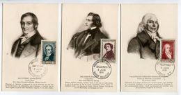 Cp - Serie Cartes Maximum 891/96 - Talleyrand Delacroix Gay Lussac Surcouf Musset Napoleon - Maximum Cards