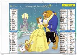 Almanach Du Facteur 2003, La Belle Et La Bête, Peter Pan, Fée Clochette, Disney, LAVIGNE - Tamaño Grande : 2001-...