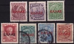 CRETE 1909 /1910 Cretan State Cretan Stamps Overprinted With Large ELLAS Set To 50 L Vl. 78 / 84 - Kreta
